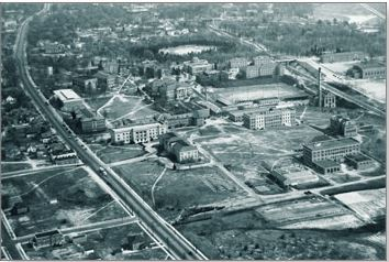 Historical Aerial Photograph of Campus